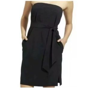 Athleta Strapless Black Anywhere Dress